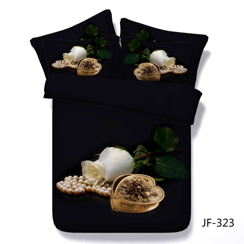 Metal Heart Box 3D Printing Duvet Quilt Doona Covers Pillow Case Bedding Sets