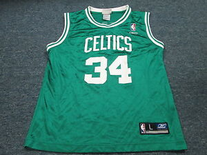hot sales 5b31d e462d Details about VINTAGE REEBOK NBA BOSTON CELTICS PAUL PIERCE GREEN JERSEY  SIZE YOUTH L (14-16)