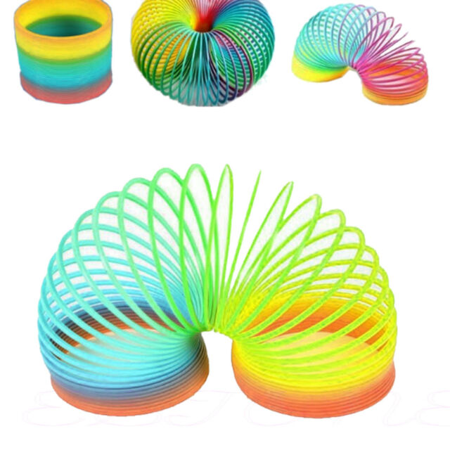 Fashion Colorful Rainbow Plastic Magic Slinky Children Classic Development Toy