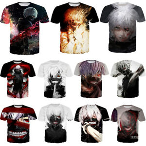 New Fashion Women//Men Anime Tokyo Ghoul 3D Print Casual T-Shirt Short Sleeve Tee