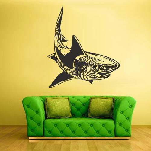 Z1885 Wall Vinyl Sticker Decals Decor Fish Shark Predator Ocean Sea Horror
