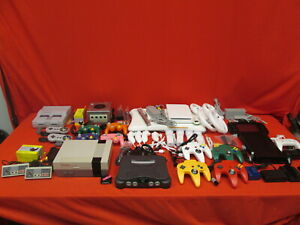 Details about Nintendo Console Lot NES Super Nintendo N64 GameCube Wii Wii  U With