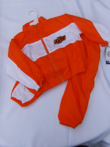 Oklahoma State Cowboys OSU Infant Baby Windsuit Jacket Pants Set 24 months NEW