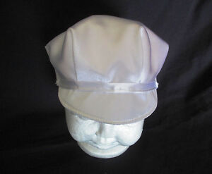 Baby Boy White Satin Christening Baptism  Wedding Cap Hat Size 0-18 ... 70320e145b0