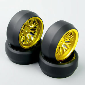 4pcs 0 Speed Drift Tires Wheel Rims Set For Hsp Hpi Racing 1 10