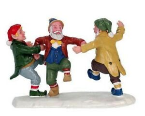 NEW 2000 LEMAX VILLAGE COLLECTION 3 ELVES BAND 02445A POLY RESIN FIGURINE
