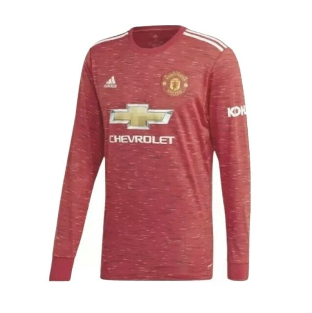 adidas Manchester United 2021 Home Mens Long Sleeve Jersey Red ...