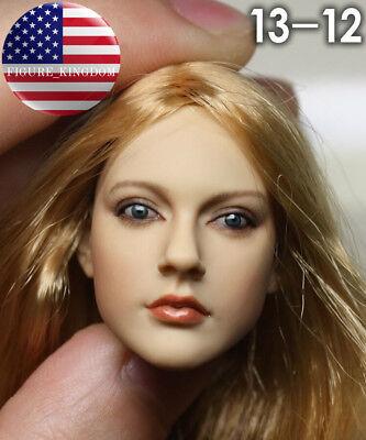 1//6 Avril Lavigne Head Sculpt KUMIK 13-12 for Hot Toys phicen Body ❶US SELLER❶