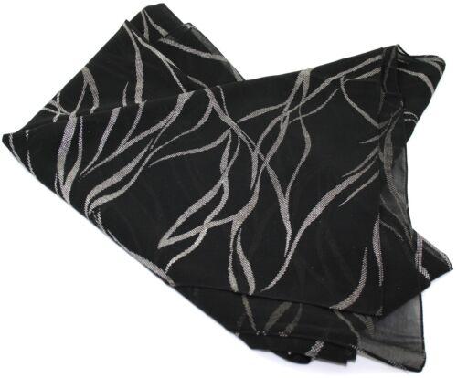 Ex Store SHEER Wide Wrap Sciarpa Pashmina Nero e Argento Sparkle