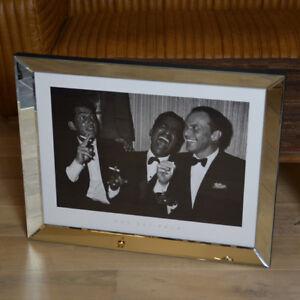 Wandbild-Spiegel-Rahmen-Ratpack-Sinatra-Martin-Davis-Kunstdruck-Bild-Druck-neu