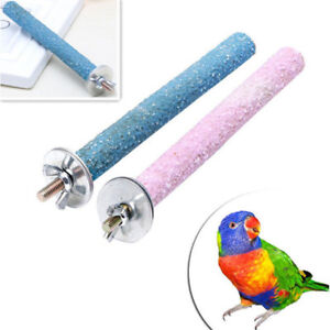 Bird-Pet-Parrot-Stand-Toys-Chew-Paw-Grinding-Colorful-Cage-Branch-Perches-Budgie