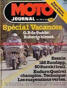 MOTO-JOURNAL-374-Zundapp-125-SUZUKI-TS-50-NSU-250-Sportmax-GP-de-Suede-1978