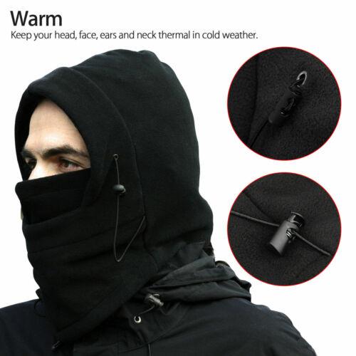 Men Women Winter Fleece Balaclava Hat Trooper Snow Ski Neck Face Mask Hood Cap