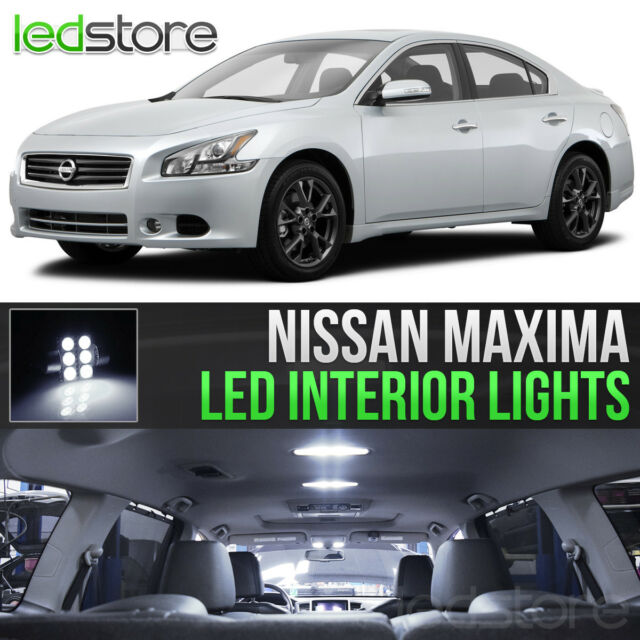 White LED Lights Interior Kit Package Bulbs For 2009 2014 Nissan Maxima