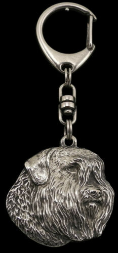Bouvier silver covered keyring high qauality keychain Art Dog