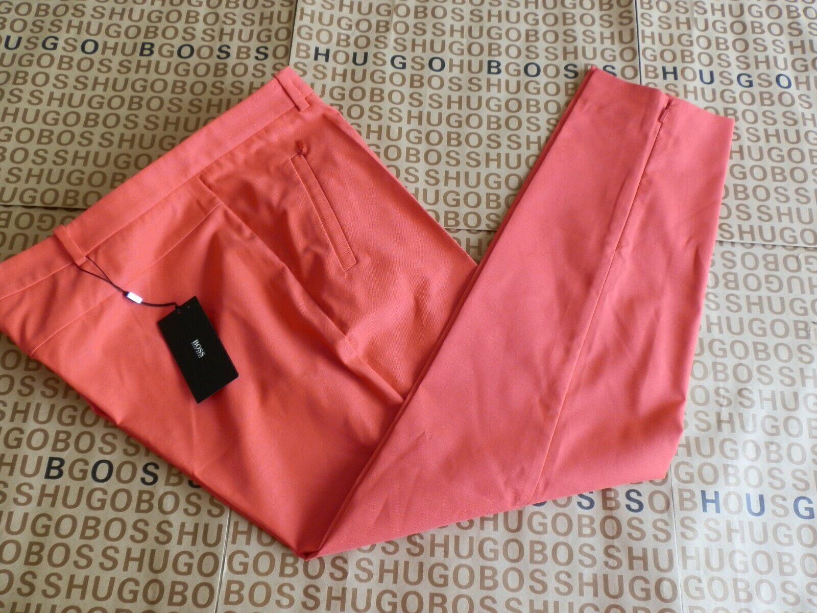 NEW HUGO BOSS WOMANS LADIES RED DESIGNER SMART SUIT TROUSERS 18 rrp