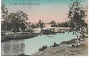 UNDERCLIFFE TERMINUS MARRICKVILLE SYDNEY NSW POSTCARD RAILWAY STATION