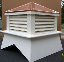 "24"" X 24"" TALL  VINYL CUPOLA ROOF VENT FOR YOUR WEATHER VANE/ALL SELF-HAND BUILT"