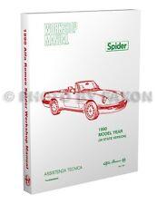 1990 Alfa Romeo Spider Shop Manual 90 Graduate Veloce Quadrifoglio Repair Book
