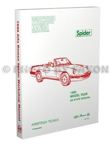 1990 Alfa Romeo Spider Shop Manual 90 Graduate Veloce Quadrifoglio Repair Book | eBay
