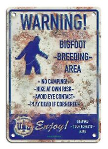 Bigfoot-Breeding-Area-faux-rusty-metal-sign-7-034-x10-034