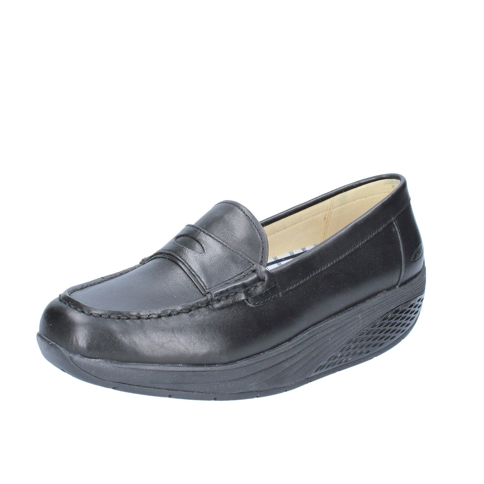 Women's shoes MBT 4   4,5 (EU 35) loafers black leather performance AB465-35