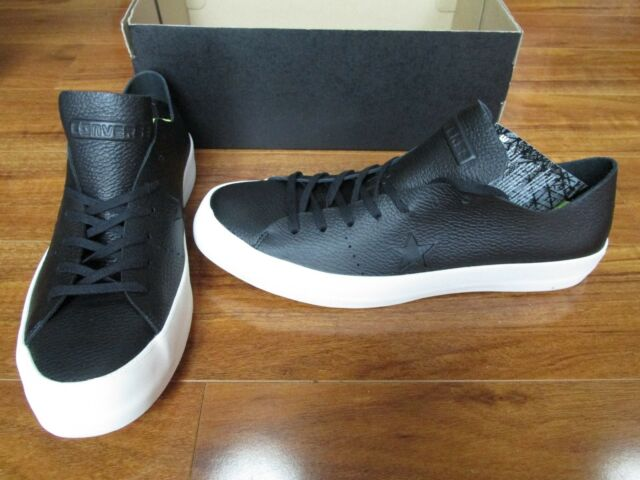 NEW Converse One Star Prime OX Shoes Mens Size 10 Black Leather 154838C  125 fc043f229