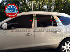 2007-2017-Buick-Enclave-10Pc-Chrome-Pillar-Post-Trim-Stainless-Steel-Door-Cover