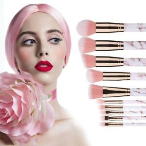 10pcs-Marbling-Kabuki-Professional-Makeup-Brush-Set-Brushes-Blusher-Face-Powder