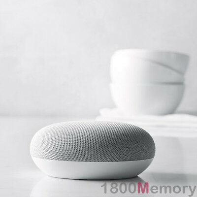 Google Home Mini Smart Assistant Chalk White Voice Activated Speaker Automation