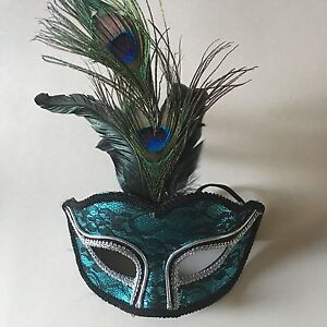 nwt peacock mask feathers maker s halloween masquerade party eye