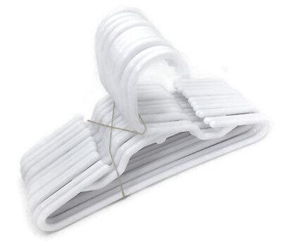 for America 14-18 inch Girl Doll Clothes LOT 12 White Plastic Hangers 1 Dozen