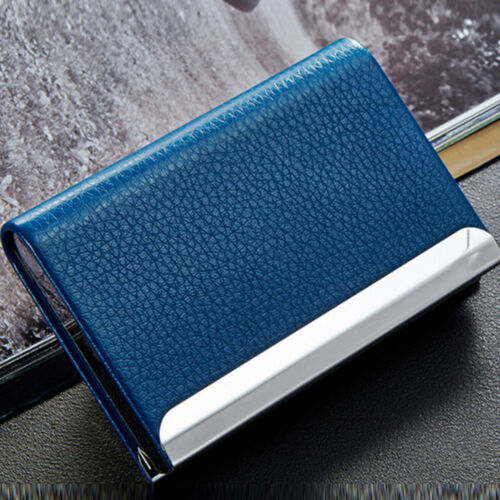 Aluminum Leather Business Credit Card Name Id Card Holder Case Wallet Box Cool