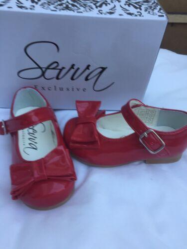 Sevva Spanish Designer Red Patent Fille Chaussure 4-13