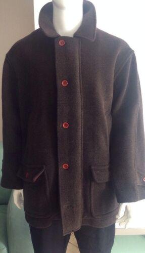 Saks Fifth Ave DAF David Fahner Brown Wool Coat Si