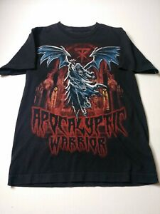 WWE-Undertaker-Apocalyptic-Warrior-Mens-T-Shirt-Size-S-Black-Short-Sleeve
