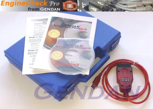 OBD-II EOBD Gendan EngineCheck Pro USB Car Diagnostic PC Scan Tool Package