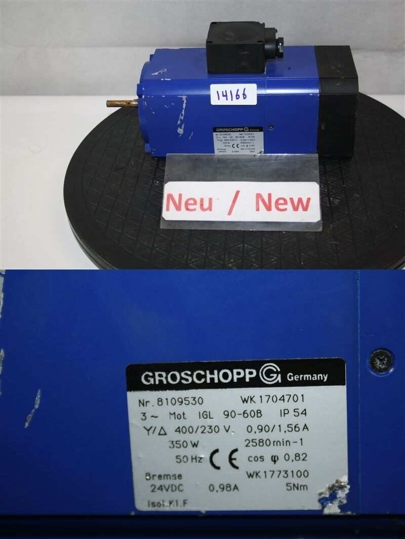 Groschopp wk1704701 350 watts drogène 90-60b moteur moteur moteur électrique 170bfe