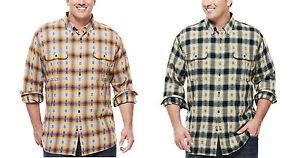 Foundry-men-Big-Tall-Flannel-Work-shirt-LT-2XLT-3XLT-4XLT-2XL-3XL-4XL-5XL-NEW