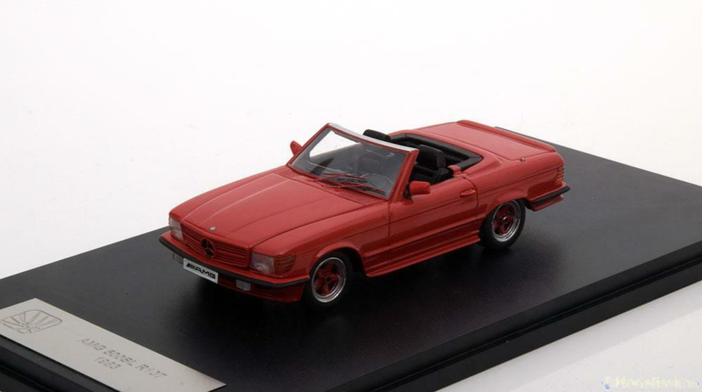 MERCEDES BENZ 500 SL 1983 AMG R107  rojo  GLM 206101 1 43 ROADSTER ROT ROSSO ROUGE