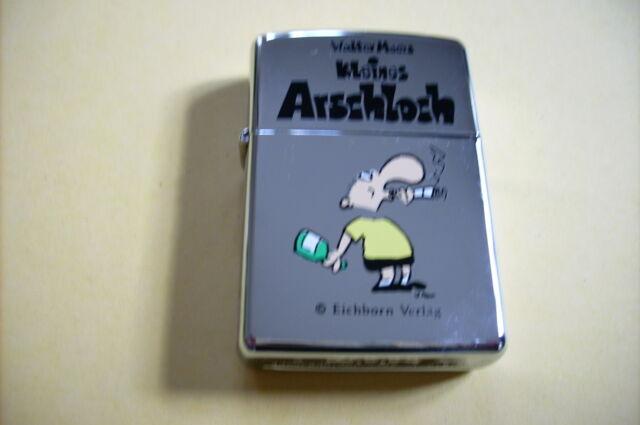 """NEU!!! Zippo """" Kleines Arschloch """" Walter Moers -A Zippo XIII-"""