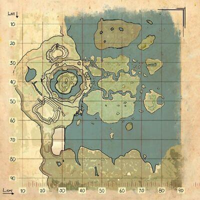 Ark Survival Evolved The Center Map Poster Ebay