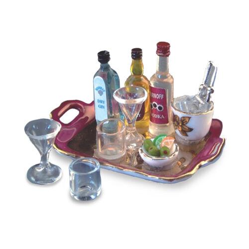 Reutter porzellan aperitifset LCR tray poupée dollhouse 1:12 type 1.854//8