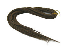 ELYSEE STAR DREADS #18 DARK GOLDEN BROWN DREADLOCKS DOUBLE ENDED SYNTHETIC DREAD
