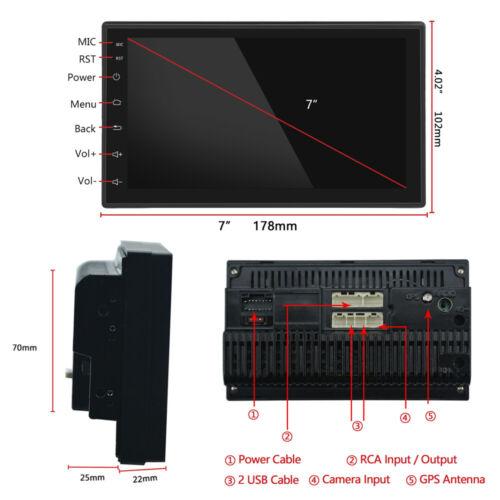 "7/"" Android 8.1 AUTORADIO mit GPS Navigation NAVI BLUETOOTH WIFI DOPPEL 2 DIN MP3"