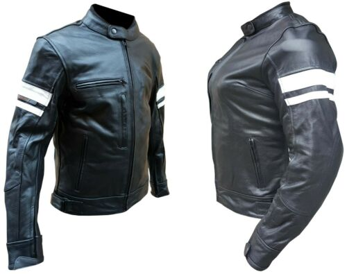 S XXL Giacca da per moto in pelle uomo o donna Taglie XS L XL M 4XL 3XL