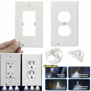 Details About Universal Led Plug Cover Plate Wall Outlet Socket Case Home Hallway Safty Tools