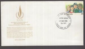 Australia-1978-pre-paid-FDC-with-stamp-misplaced-to-right-variety