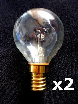 2x E14 40W Oven cooker 300°C mini light bulb lamp round incandescent 230V 55x26