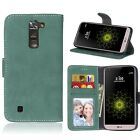 For LG Series Phones Luxury Wallet ID Card Matte Leather Case Cover Skin TPU DK